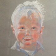 Portait of Ed, pastel, NOT FOR SALE