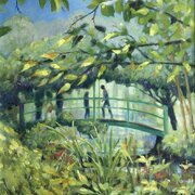 Water lilies - the Japanese Bridge at Giverny, oil, 18 x 22 inches
