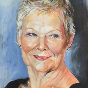 A: Dame Judi, acrylic on paper, NFS