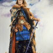 Highlander, NOT FOR SALE, acrylic on canvas